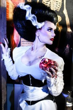 halloween, holiday, costumes, bride of frankenstein Halloween 2016, Halloween Cosplay, Holidays Halloween, Halloween Makeup, Cosplay Costumes, Halloween Party, Halloween Costumes, Diy Costumes, Pinup Halloween