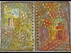 """Doors"" Mixed Media Art Journal Pages"
