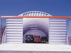 Photo Gallery of Arch steel buildings - Metal Buildings USA.