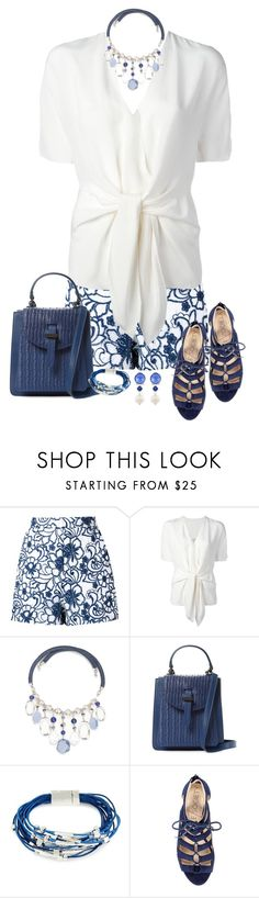 """Beautiful Blue & White"" by miladyc ❤ liked on Polyvore featuring Martha Medeiros, 3.1 Phillip Lim, New Directions, Meli Melo, Kenneth Cole and Miu Miu"