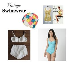 """Vintage Swimwear 1"" by scolab ❤ liked on Polyvore featuring Esther Williams and vintage"