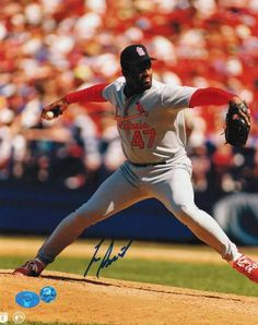 Lee Smith St. Louis Cardinals Autographed 8x10 Photo -Pitching-