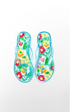dc6e7c87680e81 Lilly Pulitzer jelly flip flops. Jelly Sandals