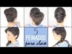 ▶ 5 peinados faciles para ir a la escuela   5 back to school hairstyles - YouTube