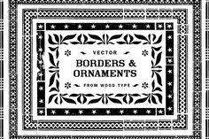 Borders & Ornaments Vector Art   @creativework247