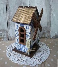 """Купить чайный домик """"Мельница"""" - тёмно-синий, чайный домик, чайный домик для…"""