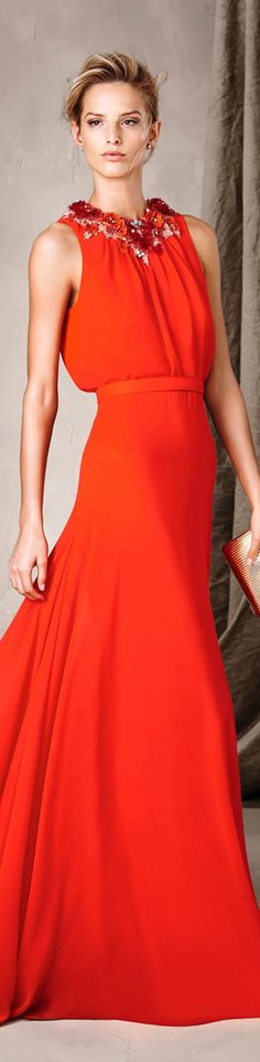 Pronovias 2017 Evening Dresses For Weddings, Evening Gowns, Cocktail Outfit, Orange Fashion, Beautiful Gowns, Lady In Red, Glamour, Cool Outfits, Fashion Show