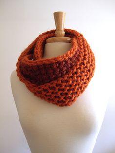 pumpkin and spice infinity loop scarf / cowl - #tunisian #crochet