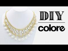 DIY Collar Cadena, Perla y Octagonal - Colore Accesorios - YouTube