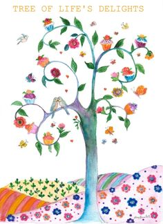 TREE OF LIFE'S delights 8x11print by aliciasmagicland on Etsy