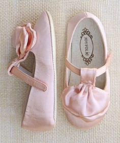 Pink Satin Amelie Mary Janes (baby)