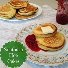 *****Southern Hoe Cakes Great for a BBQ sandwich (pork or chicken) with cole slaw & pickle. Brunch Recipes, Breakfast Recipes, Snack Recipes, Brunch Foods, Drink Recipes, Breakfast Ideas, Savory Breakfast, Pancake Breakfast, Sweet Breakfast