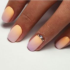 Beautiful gradient nails, Gradient manicure with gel polish, July nails, Ombre manicure on nails, Ombre short nails
