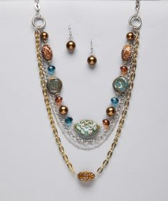 jewerly love this colors together reminds me of fall!! :)