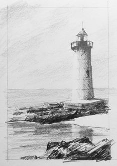how to sketch places quickly in under 20 minutes. This is one of the lessons from the Sketching Places Quickly course on Landscape Sketch, Landscape Drawings, Watercolor Landscape, Drawing Sketches, Art Drawings, Sketch Art, Pencil Drawings, Learn To Sketch, How To Sketch