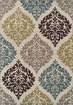 Super Area Rugs, Modern Transitional Damask Rug, Ivory, 8ft. 2in. X 10ft. Super Area Rugs http://www.amazon.com/dp/B0084PW4ZM/ref=cm_sw_r_pi_dp_5yDGwb1X4BN94