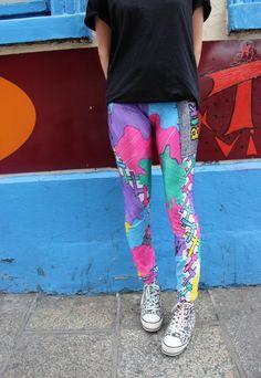 Vintage crazy leggings #leggings #tights www.loveitsomuch.com