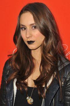 'Pretty Little Liars' Star Troian Bellisario Wore Halloween-Perfect Black Lips to Last Night's Premiere