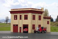Model Railroad Building - HO Scale Firehall