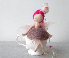 DOMESTIC FAIRY  Housewarming gift, Art felt doll, Fantasy gift, Needle felted fairy, Felt fairy, Humor gift, Fantasy decor, New house gift, Funny house gift by theEnchantedWool on Etsy