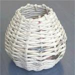 Reciclar - Cesto simples trançado de jornal
