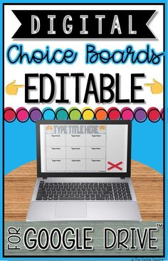 These EDITABLE Digital Choice Boards for Google Drive™️ are a great way to allow student choice during classroom activities and can be used for ANY subject. The beauty of a DIGITAL choice board (aside from being paperless) is that you can build and link to all sorts of activities in ONE location. Students can add screenshots and links to outside creations right into one of the slides of their choice board presentation. Google Docs, Teaching Tools, Teacher Resources, Teaching Ideas, Teaching Strategies, Learning Resources, Google Drive, Choice Boards, Classroom Activities