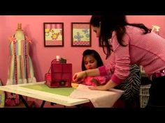 ▶ 6-year-old Adelyn makes Candy's Neck Roll - KidsSewing.org - YouTube