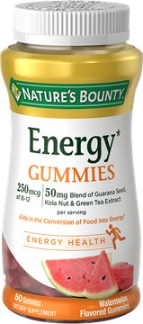 Nature's Bounty Energy Gummies - I received a FULL SIZE of this FREE, plus a coupon in my VoxBox from Influenster!