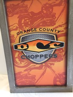 Orange County Choppers OCC Motorcycle Wood Framed Picture Man Cave Garage Bar