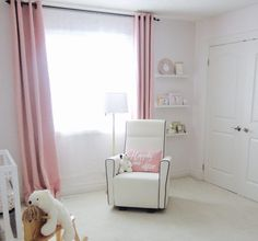 Every nursery needs a nursing nook and in a nursery for TWINS, it's even more important!