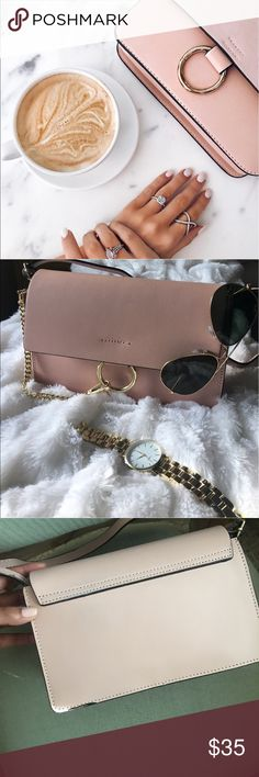 Blogger Style Bag Practically new, it was purchased with the flaws on the strap, inside is pristine, hardware is gold looks like a Chloe small faye Francesca's Collections Bags Crossbody Bags