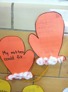 """""""My Mitten Could Fit..."""" A Jan Brett writing extension activity"""