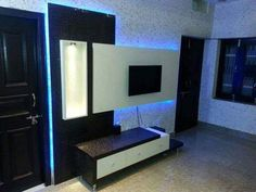 Bed Furniture, Furniture Design, Lcd Panel Design, Tv Cabinet Design, House Elevation, Tv Cabinets, Tv Unit, Wall Units, Awesome