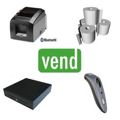 Vend POS Hardware Bundle with Star Micronics TSP654II Bluetooth Receipt Printer, Cash Drawers & Socket Bluetooth Barcode Scanner compatible with Vend POS Software for iPad.   The Bundle Includes:  1 x Star TSP654II Bluetooth Receipt Printer  1 x Socket 7ci Bluetooth Barcode Scanner  1 x Cash Drawer with 5 Notes & 8 Coin Sections  1 x Box 80x80 Thermal Paper Rolls (24Qty) Pos, Computer Mouse, Printer, Bluetooth, Software, Drawers, Hardware, Pc Mouse, Computer Hardware