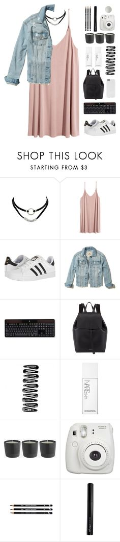"""""""announcement(rtd)"""" by s-unset ❤ liked on Polyvore featuring adidas, Hollister Co., Logitech, Mansur Gavriel, NARS Cosmetics, Fujifilm, Antonym, offtodaydream and emilyscontest2017"""