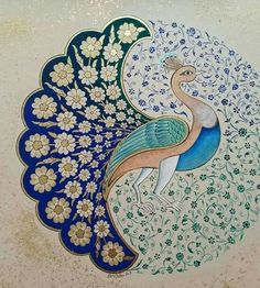 Islamic Art Pattern, Pattern Art, Madhubani Art, Peacock Art, Indian Folk Art, Madhubani Painting, Iranian Art, Turkish Art, Calligraphy Art