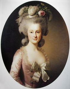 Marie-Thérèse Louise de Savoie-Carignan, Princesse Douairière de Lamballe (1749-1792), Surintendante de la Maison de la Reine de France. / D'après Alexandre Roslin.