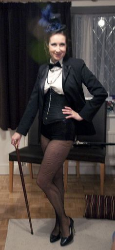 So a friend of mine is running a twenties themed evening in a couple of weeks - based around a talent show! Now, I don't have many talents, . Dance Costumes Tap, Dancing Outfit, Rocky Horror Show, Talent Show, Tap Dance, Dancers, Sally, Costume Ideas, 1920s