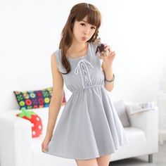Buy '59 Seconds – Sleeveless Tie-Waist Striped A-Line Dress' with Free International Shipping at YesStyle.com. Browse and shop for thousands of Asian fashion items from Hong Kong and more!