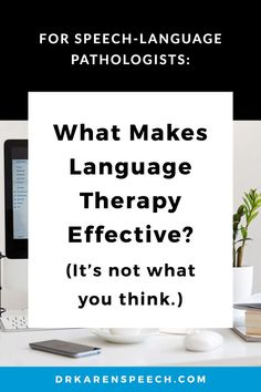 What REALLY needs to happen for language therapy to be effective? (hint: a lot of it happens before you even walk in to the therapy room) This is EXACTLY why it's so hard to get it right… Here's what makes language therapy effective. #speechpathology, #speechlanguagepathology, #speechlanguagetherapy, #speechtherapy, #slps, #speechpathologist, #speechtherapyideas, #sped, #specialeducation