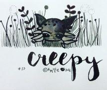 Creepy - by Camille Medina #inktober #inktober2016
