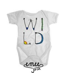 Wild Bohemian baby clothing design featuring a moon, mountains, birds, water, and the sun!   Design as shown.   SHIPPING Orders currently have a 3-5 day