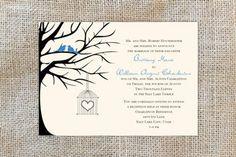 Lovebirds wedding invitation. RoseyMae Wedding Paper Design. Whimsical Wedding Invitations, Love Birds Wedding, Wedding Paper, Paper Design, Getting Married, Classic, Fun, Derby, Classic Books