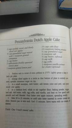 Pennsylvania Dutch Apple Cake                                                                                                                                                                                 More