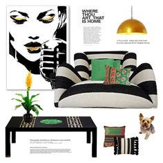 """Home"" by maitepascual ❤ liked on Polyvore featuring interior, interiors, interior design, home, home decor, interior decorating, Kate Spade, Joybird, Designs by Lauren and Hedi Slimane"