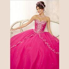 Camadas de vestidos Quinceanera 15 anos Tulle querida brilhante frisado vestido de festa vestido de baile querida L694(China (Mainland))