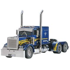 This is the electric powered, radio controlled, 1/14 scale Tamiya Grand Hauler Semi Truck Kit. Compatible with the Tamiya Tractor Truck Option Parts for further customization. For modelers 14 years of