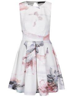 Krémové šaty s gombíkom Little Mistress