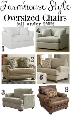 Farmhouse Style Oversized Chairs