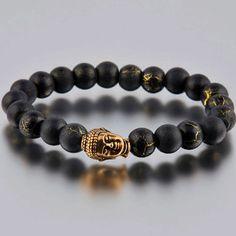 Buddha Bracelet Goldtone, Men's bracelet, but I just love this!